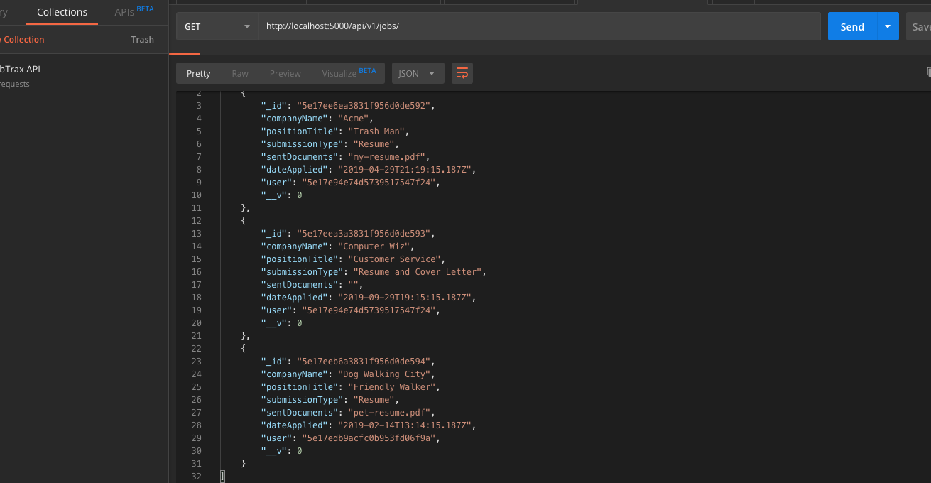 image of JobTrax jobs API